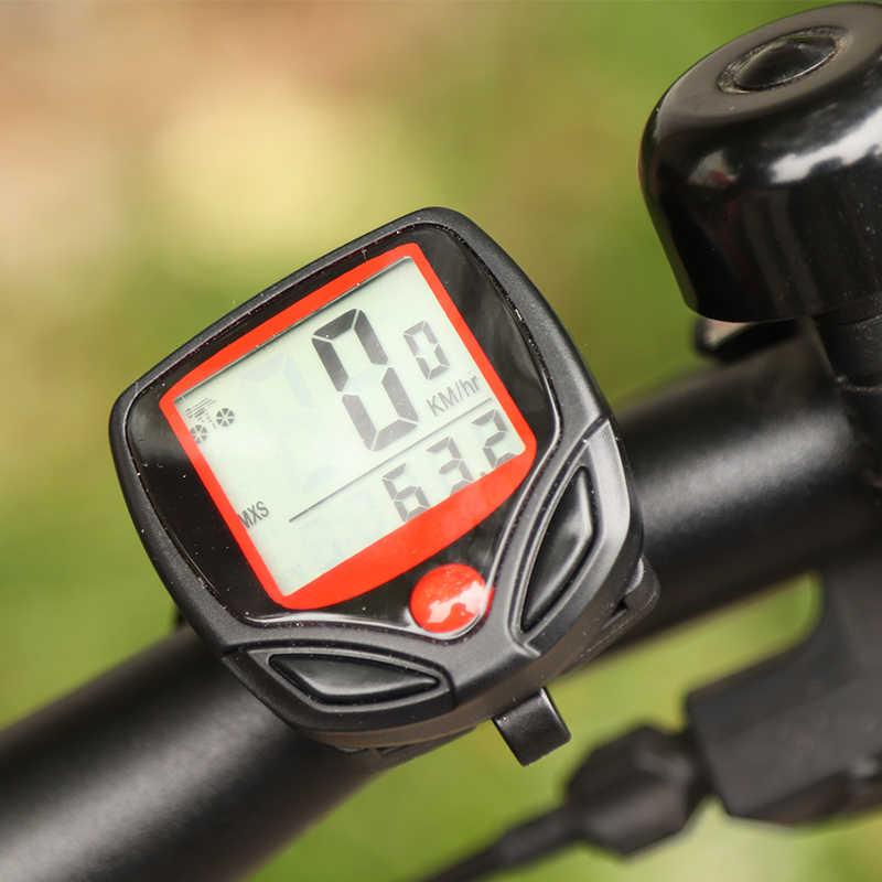 1 PC Komputer Sepeda dengan LCD Digital Display Tahan Air Sepeda Odometer Speedometer Stopwatch Riding Aksesoris Alat