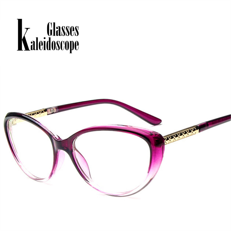 Caleidoscopio gafas mujer Retro gato ojo gafas Vintage óptica gafas ...