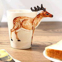 Cartoon Art Color Paper Cup Children Birthday Party Decoration 9oz Disposable Coffee Cup SK599