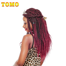 TOMO 16 Colors 12Strands 12″ 18″ Havana Twist Braiding Hair Extensions Ombre Synthetic Kanekalon Crochet Braids Hair