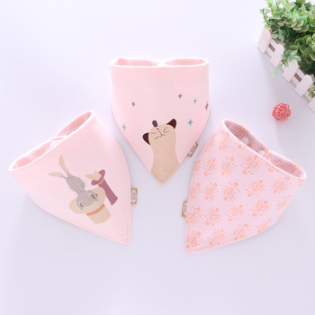 Cotton Bandana Bibs Baby Babador Feeding Smock Infant Burp Cloths Cartoon Saliva Towel Baby Eating Accessory Soft Baby Stuff 1