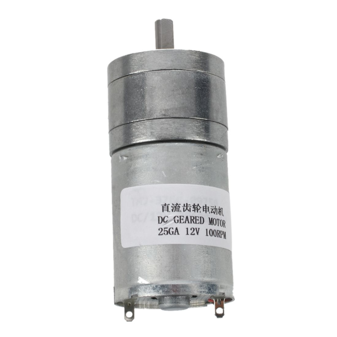 4mmx11mm Shaft 25mm Dia Cylinder Shaped Gear Motor 200 RPM 24V DC