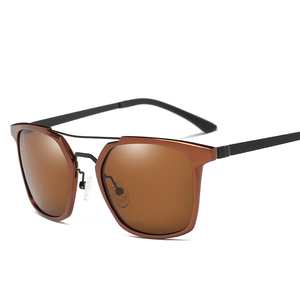 Image 4 - 2019 New Men Polarized Rimless Aluminum Sunglasses Driving Fishing Polarised Eyewear Rectangle UV400 Sun Glasses Anti Glare 8639