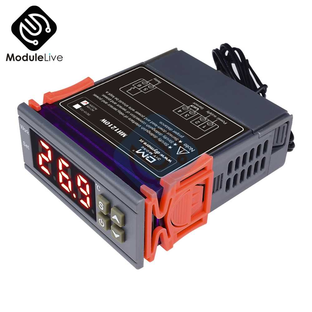 MH1210W 90-250V 10A 220V Digital Temperature Thermostat Regulator Controller -50~110 Celsius Heating Cooling Control NTC Sensor