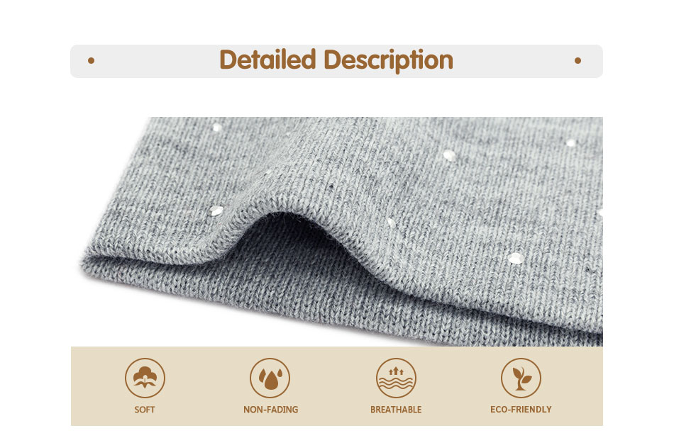 New Pearl Winter Skullies Beanies Hat Women Solid Color Knitted Cotton Female Winter Beanies Caps Soft Warm Hats Ladies Bonnet 36