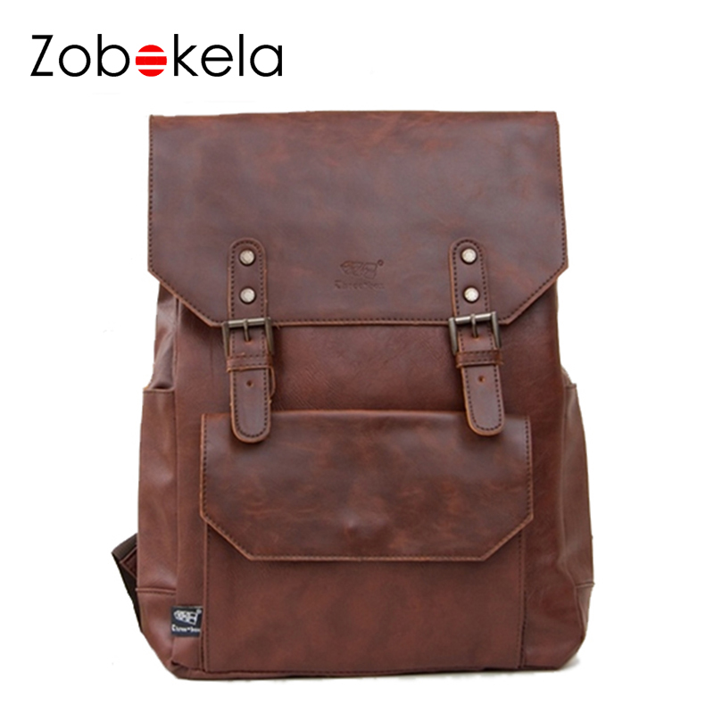 Zobokela Men backpack travel bag leather backpack student school bags for teenagers famous brands women laptop backpack brands voyjoy t 530 travel bag backpack men high capacity 15 inch laptop notebook mochila waterproof for school teenagers students