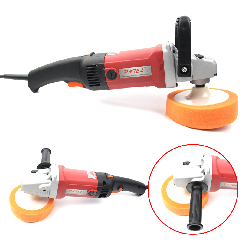 цена на Adjustable Speed Self-Lock Function Car Polisher 1400W Variable 3000 r/min M14 Car Paint Care Tool With Polishing Pad