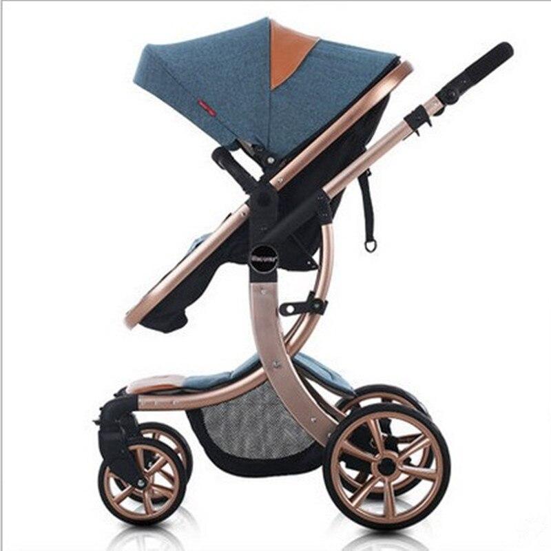 Baby Stroller 4 Colors Choosing  Kids Stroller For 0-3 Years Aluminum Folding stroller baby 25kg fast shiping for choosing