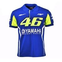 2017 Valentino Rossi VR46 Racing Blue Moto GP For Yamaha Polo Shirt Motorcycle Racing Biking Riding