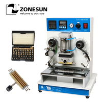 ZONESUN ZY-RM3 High Frequency Automatic Paper Leather LOGO Hot Foil Stamping Creasing Embossing Machine Heat Press Machine
