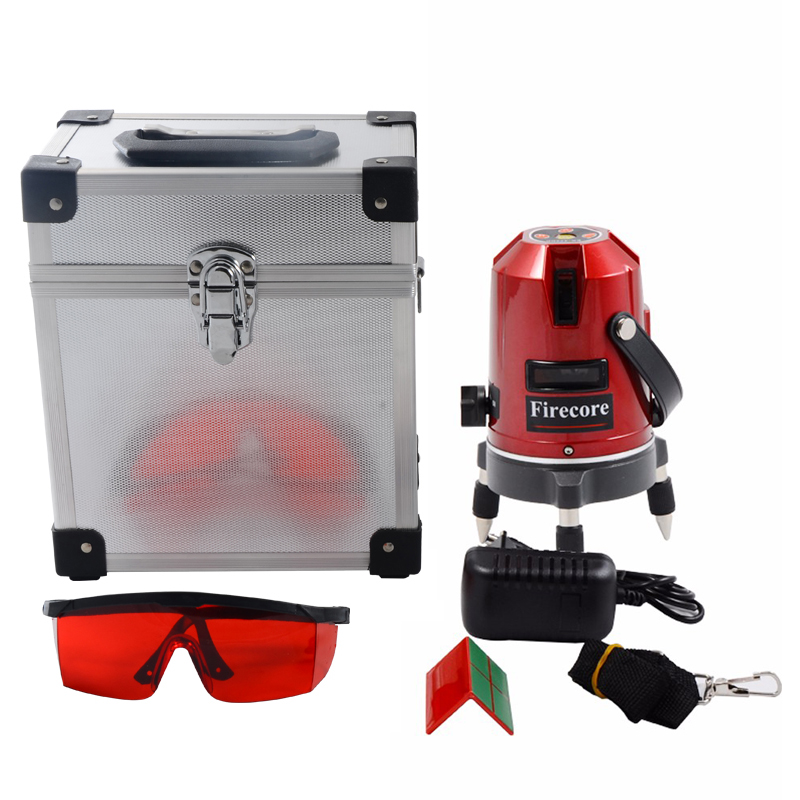 Firecore EK452DP 5 Lines 360 Rotary Laser Level Horizontal and Vertical Cross Red Beam Laser Line AC110-240V hv4 diameter 100mm vertical and horizontal dual purpose tsl75 milling machine horizontal vertical rotary table high precision