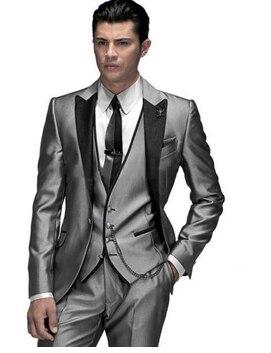 af82cc5229f49 Trajes de hombre de gran venta de diseño único con solapa entallada tres  botones dorados trajes