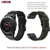 Quick fit 26 22 мм нейлоновый ремешок для наручных gps-часов Garmin Fenix 5x, 5 3 3HR D2 S60 gps часы на запястье ремешок для часов для Forerunner 935