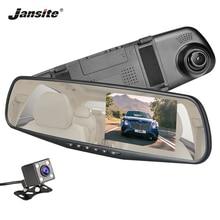 Jansite Автомобильный dvr двойной объектив Автомобильная камера FHD 1080 P дисплей Белое Зеркало видео рекордер зеркало заднего вида DVR регистратор Авто Регистратор