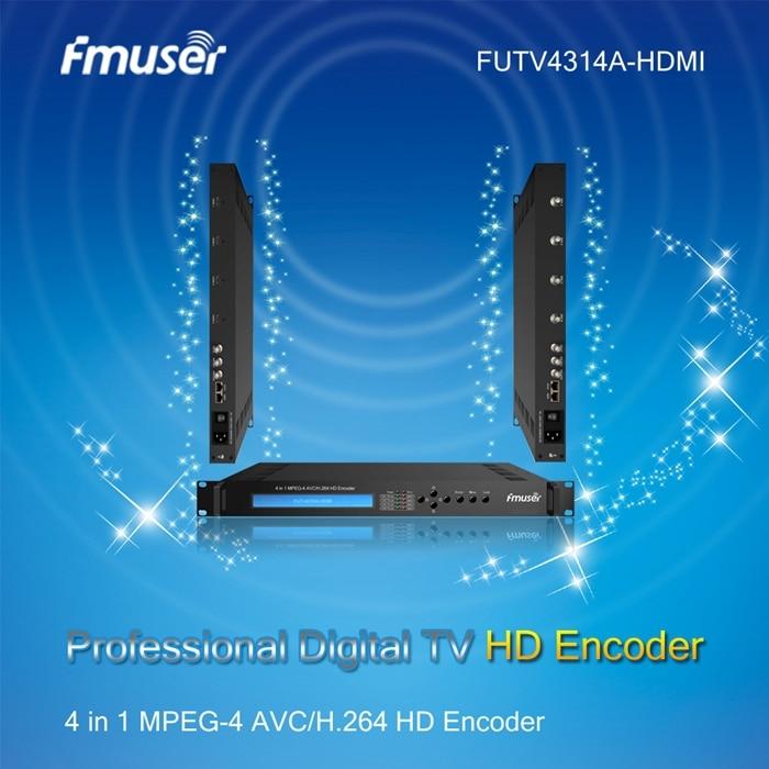 FUTV4314A-HDMI 4 in 1 MPEG-4 AVC/H.264 HD Encoder audio & video encoding and multiplexing Digital TV headend