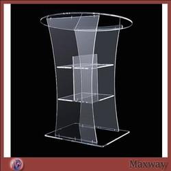 Kościelne akrylowe podium/gorący bubel przezroczysty akrylowy mównica; czysta kościelna ambona; nowoczesna ambona z pleksi