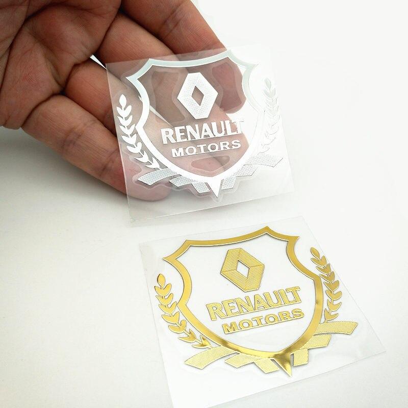 YONGXUN Excellent 3D metal new car sticker Badge case For renault duster megane 2 logan renault clio car emblem Accessories