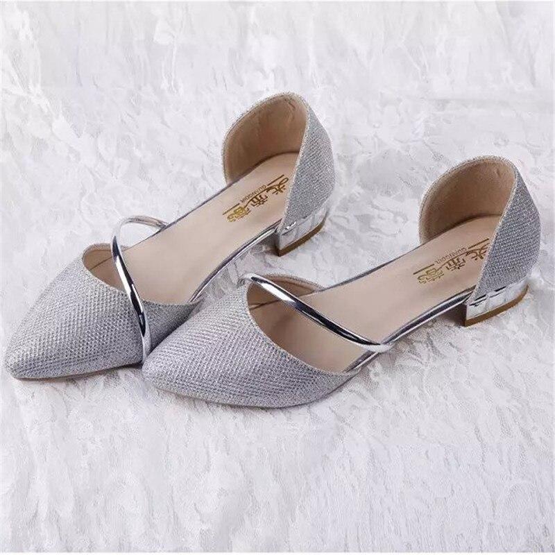 Envío Gratis Summer Fashion Square Talón Sandalias Brillantes zapatos de Fiesta