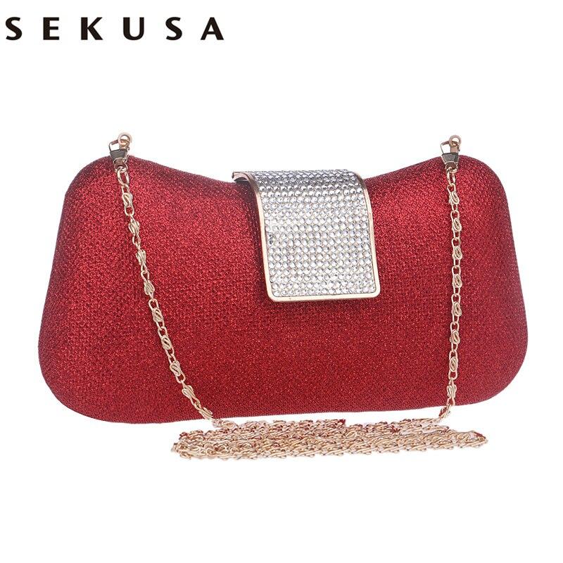 Diamantes Mujeres Bolsos de Noche Bolsas de Embragues Del Día Del Color Del Cara