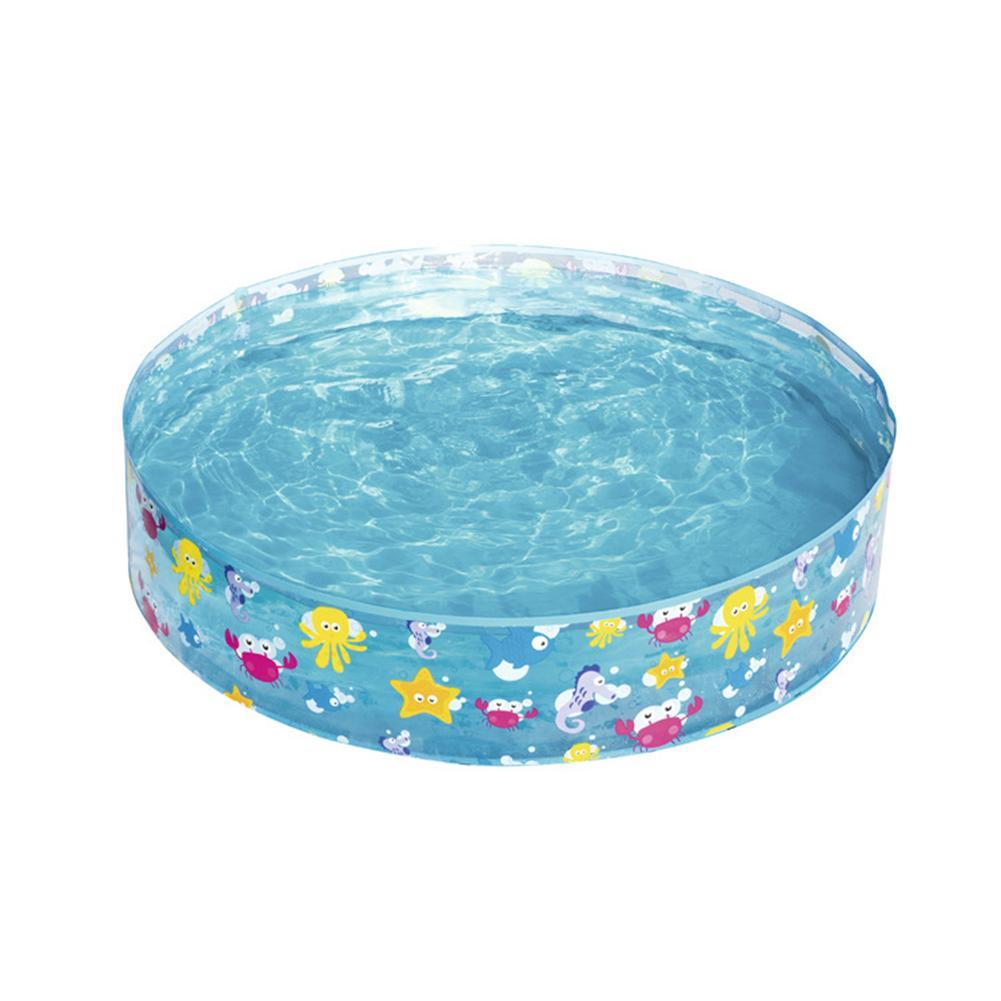 Kids Hard Plastic Swimming Pool Marine Ball Pool Hard Rubber Round Infant Tub Hot Summer Outdoor Activity Baby Birthday Gits