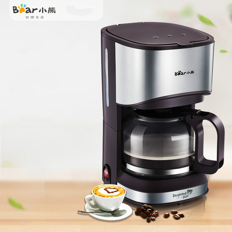 Bear American Drip Coffee Machine 700ml Glass Kettle Keep Warm Mini Portable Automatic Tea and Coffee Maker Cafetiere Moka coffee maker uses the american drizzle to make tea drinking machine