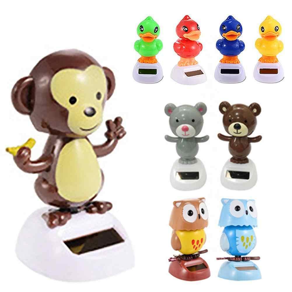 رائعتين تعمل بالطاقة الشمسية الرقص القرد القط الباندا الحيوان الأب عيد الميلاد يتأرجح المتحركة مزركشة راقصة سيارات لعبة الديكور هدية