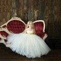 Новый бальное платье девочка pageant платья блестками без бретелек длина пола туту принцесса девушки платье для свадьбы костюм