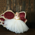 New ball gown baby girl pageant dresses sequined strapless floor length tutu princess girls party dress for wedding costume
