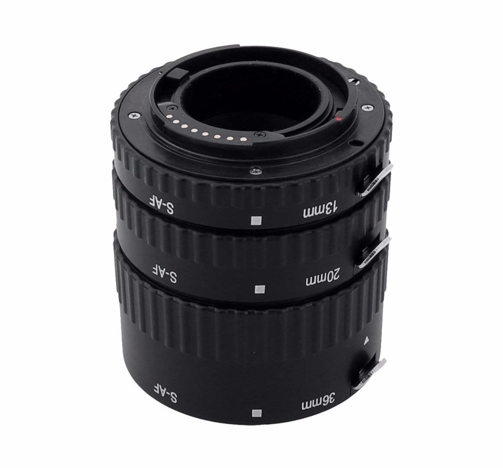 MEKE Meike MK-S-AF1-B Macro Auto Focus AF Extension tube Ring Plastic for Sony Alpha A57 A200 A300 A330 A350 A500 A550 A850 A900 meike s af b auto focus macro extension tube ring set adapter for sony alpha a7 ii a580 a550 a350 a900 a77 a550 a300