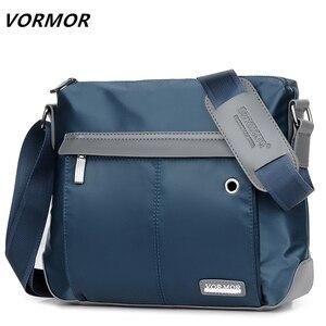 Image 1 - VORMOR Vintage torba męska torebka na ramię Crossbody torby męskie moda