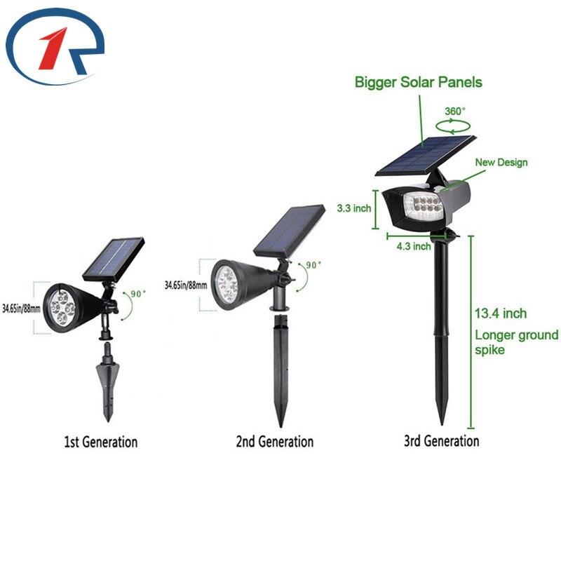ZjRight 400 lumen Außen Solar Beleuchtung Terrassen Decks Wege ...