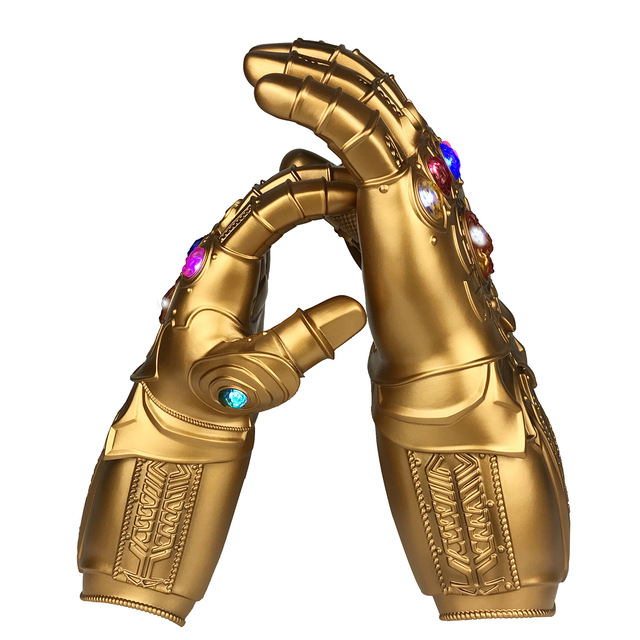 Endgame Thanos Led Infinity Gauntlet Infinity Stones War Led Glove Mask Kids&Adult Halloween Gift Cosplay 5