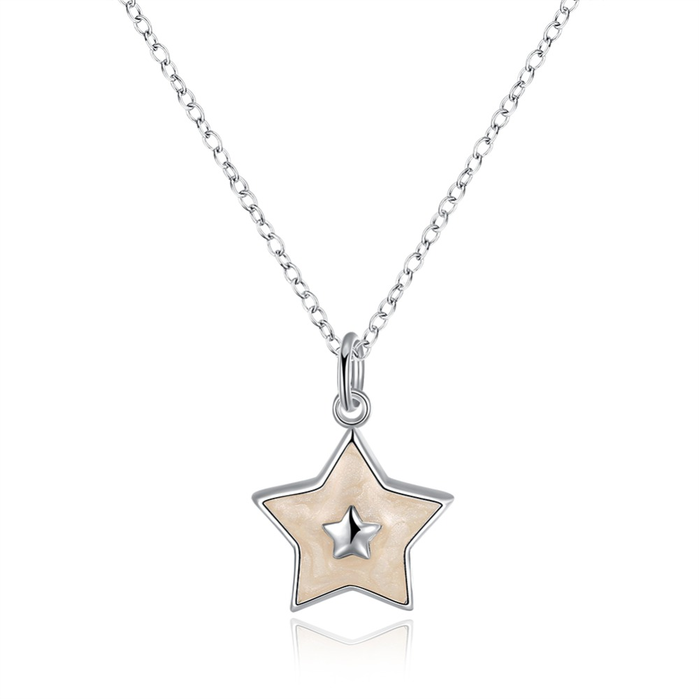 Christmas Theme Gifts Wholesale Fivepointed Star Charms Pendant Necklace Earrings  Sets Cute Star Jewelry
