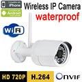 Frete grátis cctv câmera ip sem fio 720 p wifi sistema de segurança ao ar livre de vigilância de vídeo hd onvif infrared night vision ipcam