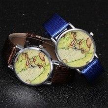 c8d6a59e6d8 2019 Hot Sale Mini Mundo Da Moda Relógio de Quartzo Homens Unisex Mapa  Avião Viajar Ao Redor Do Mundo Mulheres de Couro Vestido .
