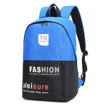 New backpack with double backpack Color-Colored Student bag canvas letter Printing knapsack Sports Fashion backpack цена 2017