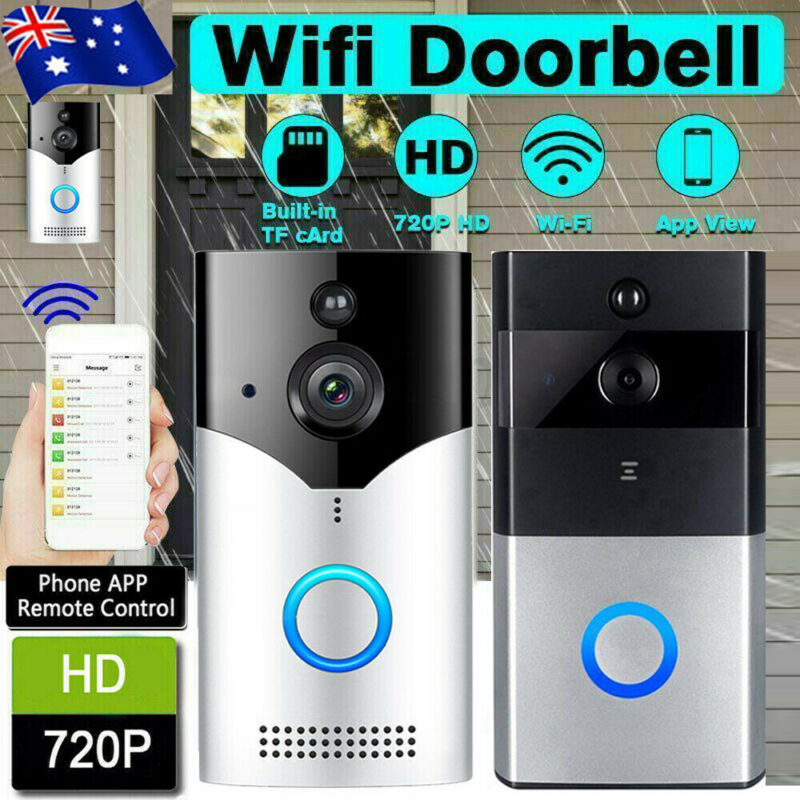 Smart WiFi Doorbell Camera Video Wireless Remote Door Bell CCTV Chime Phone APP