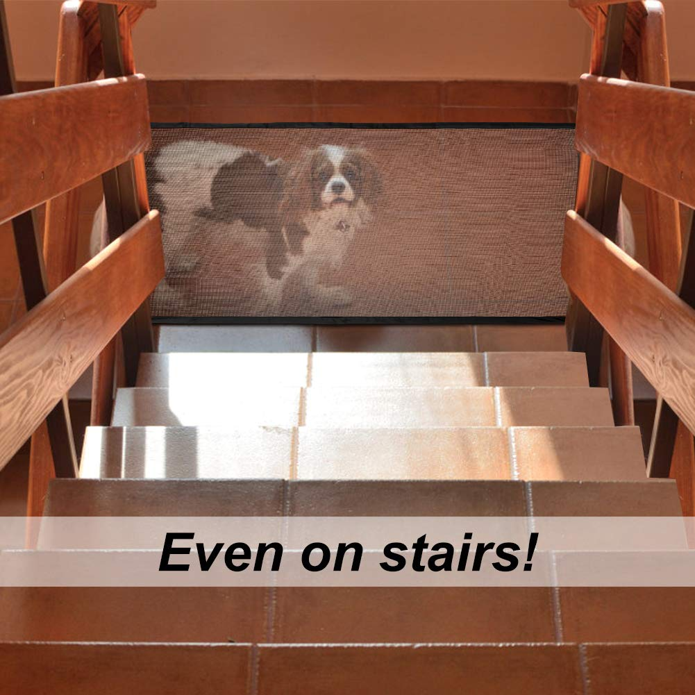 Safe Pet Dog Gate as Pet Fence for Indoor and Outdoor in Net Design for Keeping Pets away from Unwanted Place 3