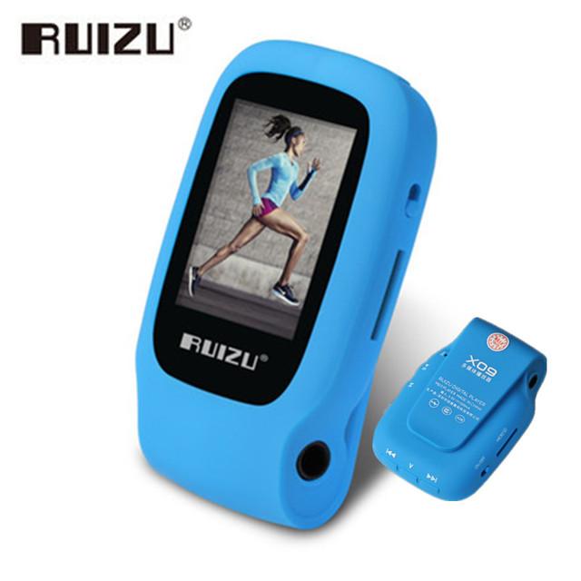 RUIZU X09 MINI Reproductor de MP3 Walkman Correr Deportes de Mp3 del Clip de Apoyo Grabación de Tarjeta TF Reproductor de Música Con 1.5 pulgadas de Pantalla E-Book FM
