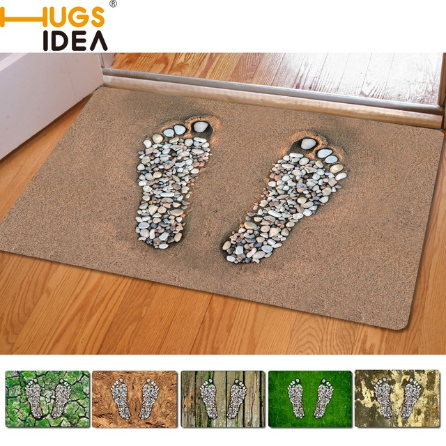 Footprint Design Front Outdoor Entrance Carpets Home Decoration Small Carpet For Living Room Bedroom Kitchen Floor