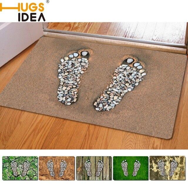 Footprint Design Vorne Aussen Eingang Teppiche Dekoration Kleine