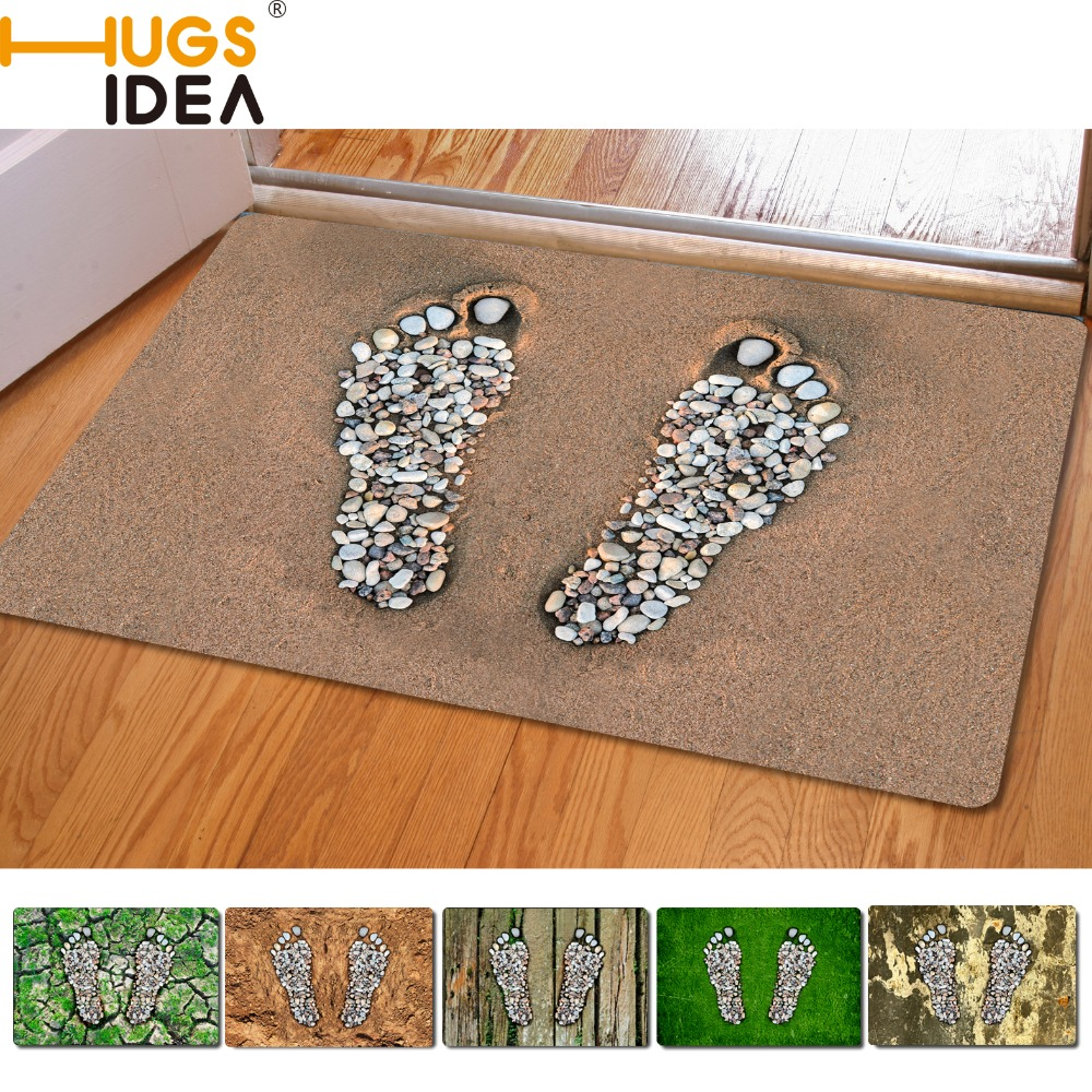 Footprint font b Design b font Front Outdoor Entrance Carpets Home Decoration Small Carpet For Living