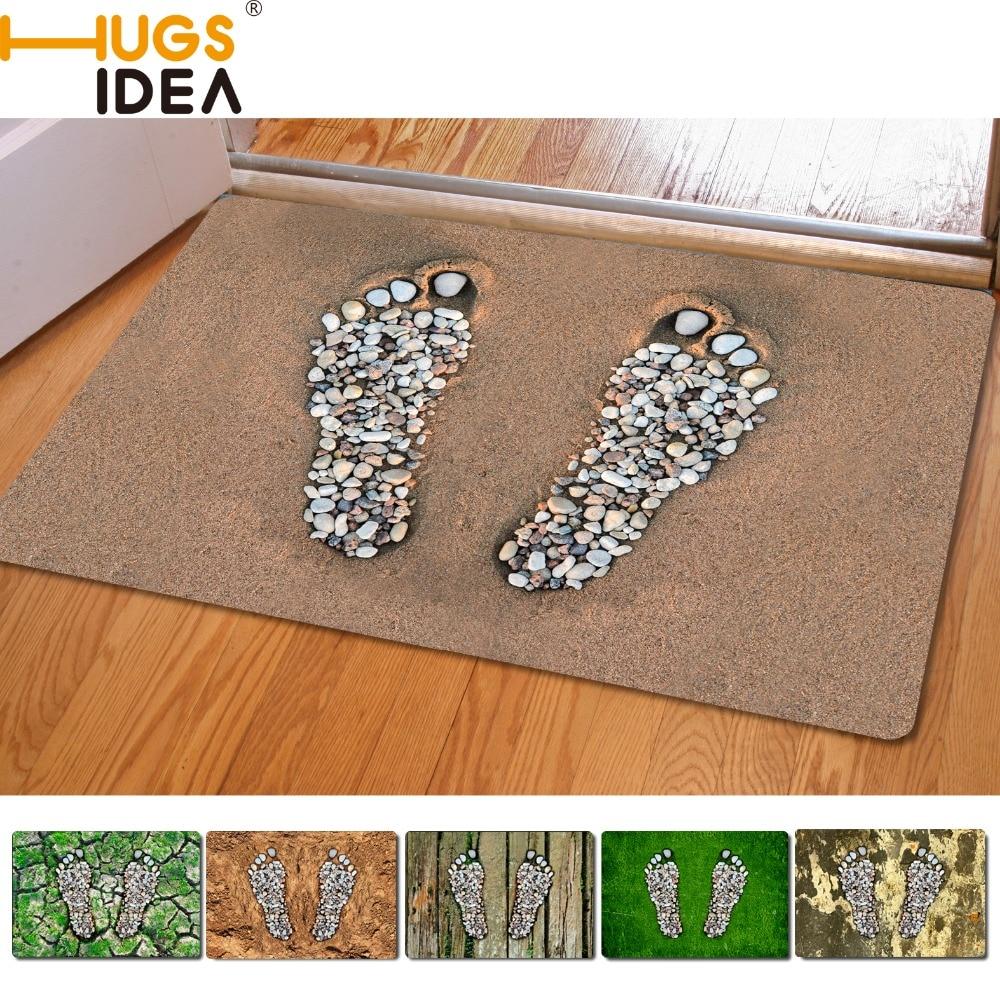 Footprint font b Design b font Front Outdoor Entrance Carpets Home Decoration Small Carpet For Living