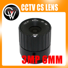 3Mega pixels 6mm CS lens IR Fixed CS Lens 1/3″ CS F1.6 lens for CCTV Security Camera Free Shipping