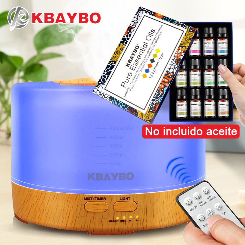 500ml Humidifier Remote Control Aroma Essential Oil Diffuser with 4 Timer Settings 7 Color Changing LED lamp500ml Humidifier Remote Control Aroma Essential Oil Diffuser with 4 Timer Settings 7 Color Changing LED lamp