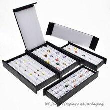 Superieure Lederen Mute Met Magneet Cover Diamond Display Lade Steen Storage Case Gem Box Sieraden Houder Edelsteen Organizer