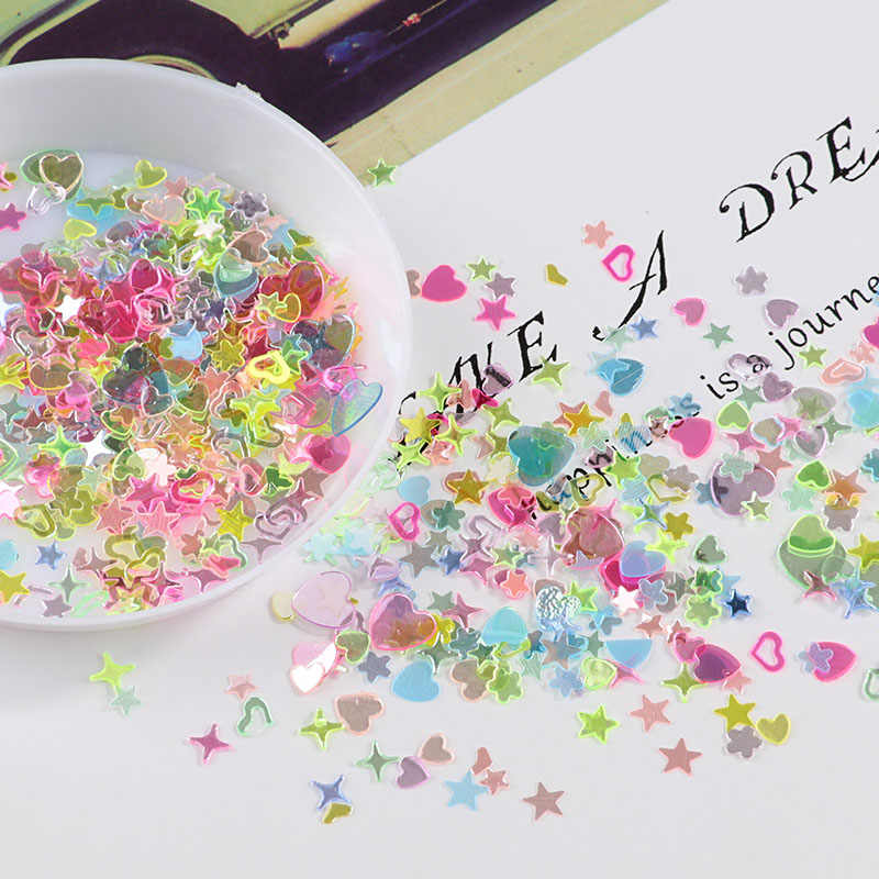 10g/lot Crystal Nail Sequins Mixed Star Heart Plum Flakes Sequins Paillettes for Nails Art Manicure,Wedding Decor Confetti
