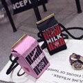 Designer Handbags High Quality Bucket Bag Phone Package  Hit Color Letters Milk Shoulder Messenger Women's PU Leather Handbag