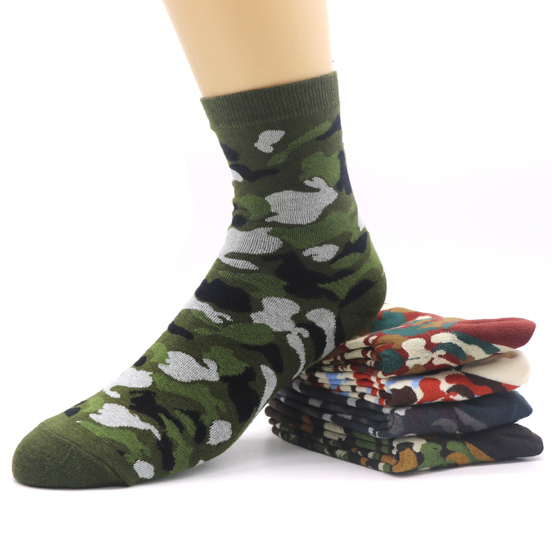 Efero Autumn And Winter Compression Socks Classic Camouflage Socks Male Business Style Colorful Mens 3d Print Socks Meias 3pair Underwear & Sleepwears