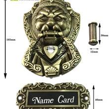 Unilrocks античная бронза Peep Hole дверной молоток Лев Единорог зверь(Размеры: 155 мм* 105 мм